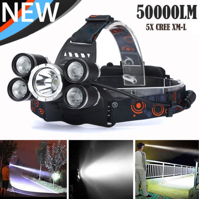 90000lm Ultrafire G700 CREE LED Tactical Flashlight Military Torch Headlamp Hike