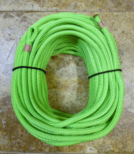 "Neon Green Dac//Polyester Halyard 3//8/"" x 125 ft Spliced in 1/"" Flemish eye"