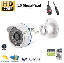 HD 720P IP Camera H.264 Infraed CCTV Camera Mini Bullet Outdoor Camera 1MP ONVIF