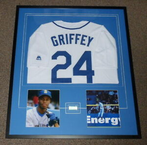 Ken Griffey Jr Signed Framed 31x36 Jersey & Photo Display UDA Mariners