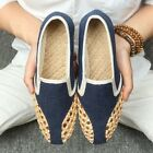 Fashion Mens Slip On Loafers Breath Woven Chinese Oxfords Summer Creepers Shoes