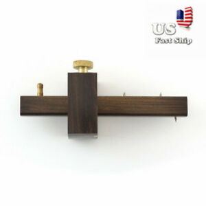 Marking-Mortise-Gauge-Carpentry-Scribe-Ebony-Copper-Wood-Work-Scraper-Tool-USA