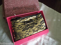 Betsey Johnson Wristlet Gold & Black With Tags