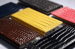 For LG Q9 G8 V50 Velvet / UW ALIGATOR Pattern COW Leather Craft Cell Phone Case