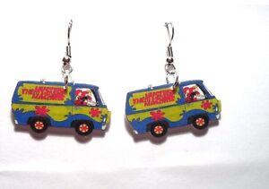 Image Is Loading Scooby Doo Earrings Van Charms