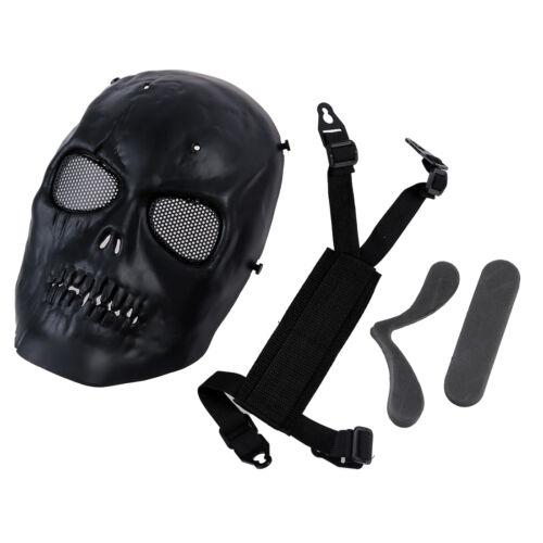 Airsoft Masque crâne de protection complet Masque militaire noir szhkus