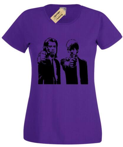 Pulp Fiction Womens T Shirt S-2XL travolta retro samuel ladies movie jackson