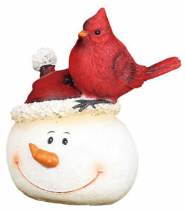 The Holiday Aisle Resin Snowman with Cardinal Figurine