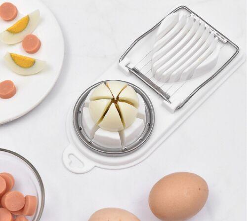 2 In 1 Stainless Steel Boiled Egg Slicer Cutter Mushroom Tomato Kitchen Chopper