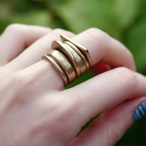 Modern-Simple-6-Piece-Chunky-Matte-Gold-or-Silver-Finger-Knuckle-Ring-Set