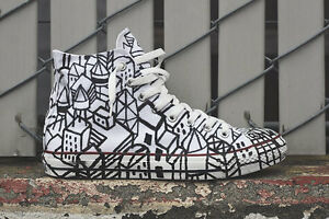 Converse All Star Custom Urban Geometry HANDMADE PERSONALIZZATE disegnate a mano