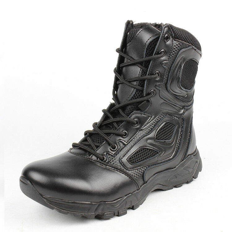 Men Boots Safety Army shoes Motorcycle Breathable Military Ankle Boots 2017 New