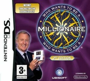 Nintendo-DS-Who-Wants-to-be-a-Millionaire-2nd-Edt-ANGLAIS-cartouche-utilisA