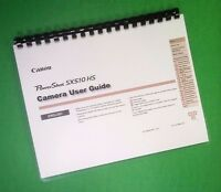 Laser Printed Canon Sx510hs Power Shot Camera 167 Page Owners Manual Guide