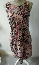 GAP sleeveless size 8 gorgeous dress pink black animal print FAB Condition