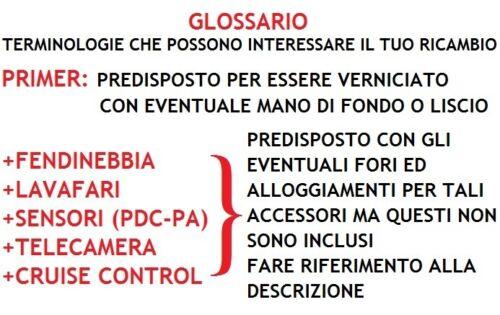 GRIGLIA PARAURTI ANTERIORE CENTRALE PER FORD FIESTA 06/>08