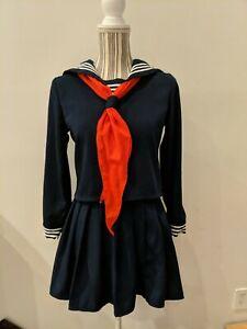 JK Sailor Suit Japanese High School Uniform Cosplay Costumes Pleated Skirt Set