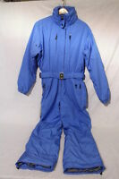 Bogner Blue & Black valdez One Piece Snow/ski/winter Suit, Womens Sz 12-35