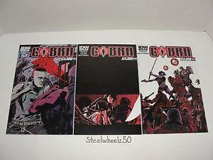 Cobra 3 Comic Lot IDW 2012 #19 20 21 FINAL ISSUES GI Joe Oktober Guard Flint HTF