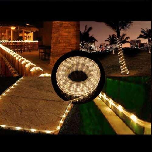2-100m LED Tuyau Lumineux Guirlande Lampe Extérieur//Intérieur