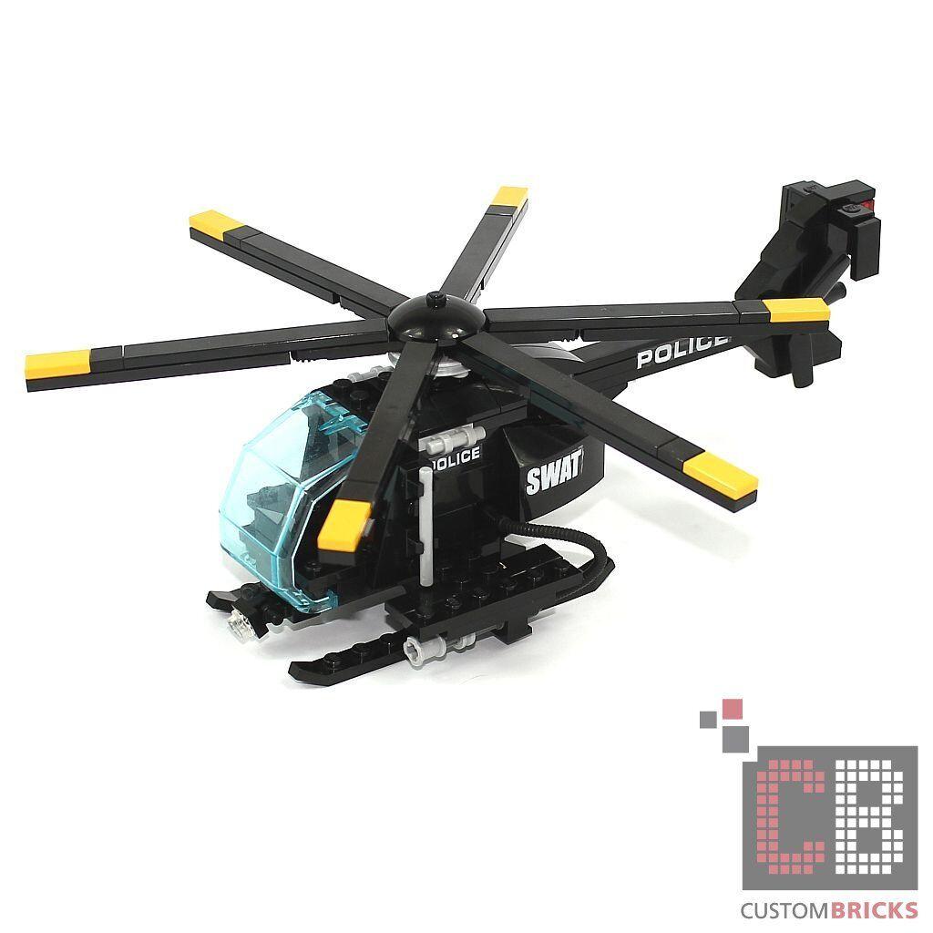 CB Custom City Modèle police SWAT Hélicoptère mh-6 de LEGO ® Pierres