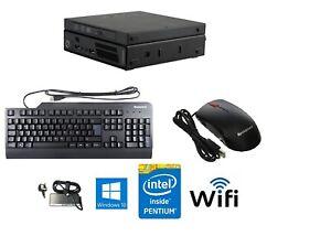 ⭐ Nuovo Lenovo M72e Intel Pentium ultra piccolo PC WIFI HDD/SSD 8GB RAM Win10 config ⭐