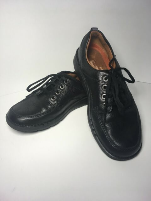 MENS CLARKS GRAIN LEATHER LACE UP UNSTRUCTURED CASUAL SHOES SIZE UNNATURE TIME