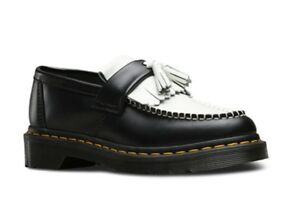 a42fe8149b0 Dr Martens Women s Adrian Smooth Black   White Tassel Loafers. Size ...