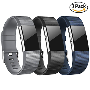 3-Pack-Replacement-Wristband-For-Fitbit-Charge-2-Band-Silicone-Fitness-Large-USA