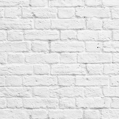 Muriva Painted White Brick Wallpaper 102539 Ebay