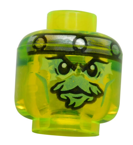 Lego Kopf in transparent neon grün Bow Master Soul Archer Ninjago 3626cpb1401