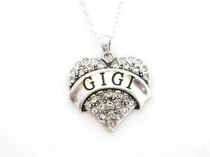 Gigi-Silver-Chain-Necklace-Clear-Rhinestone-Heart-Jewelry-Grandma-Grandmother