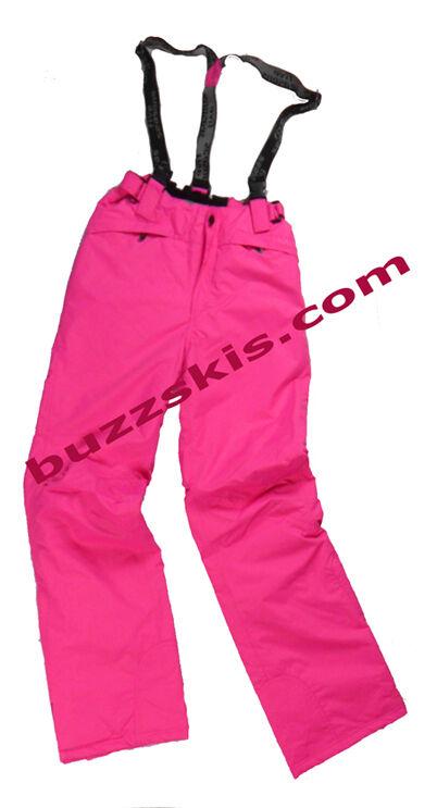LADIES size 14 Fuchsia Pink SKI SALOPETTES Braces WATERPROOF 5000 Hi Quality NEW