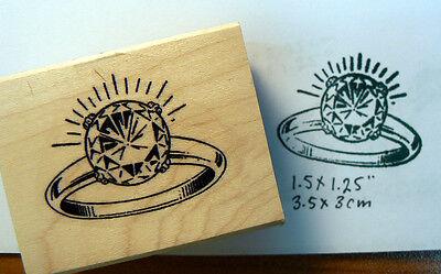Diamond ring rubber stamp WM P46