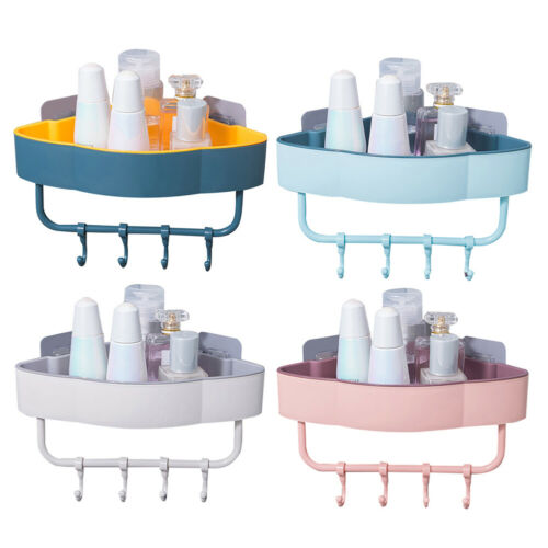 BG/_ Kitchen Bathroom Wall Mount Triangle Shelf Storage Corner Rack Holder Organi