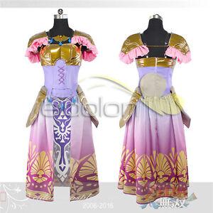 Image is loading Hot-The-Legend-of-Zelda-Princess-Zelda-Dress-  sc 1 st  eBay & Hot The Legend of Zelda Princess Zelda Dress Cosplay Costume ...