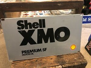Shell-XMO-Genuine-Screenprinted-Oil-Bottle-Rack-Sign-Vintage