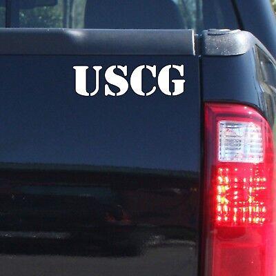 S Coast Guard Veteran Clear Vinyl Decal U