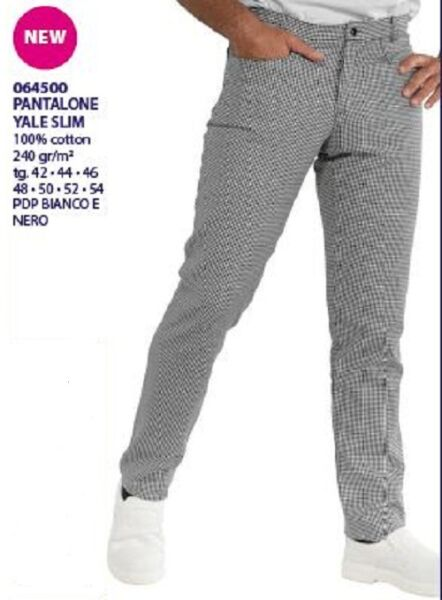 2019 Nuevo Estilo Pantalones Cocinero Isacco Yale Slim Contorneado Made In Italy 100% Cuna De Chef