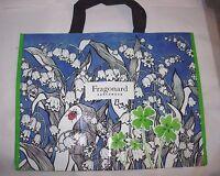 Womens Fragonard Perfume Large Travel Bag Purse Beach Shopping Tote 18x14