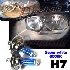 *2x H7 SUPER XENON WHITE HEADLIGHT BULBS 6000K AUDI BMW MERCEDES FORD GOLF Hid