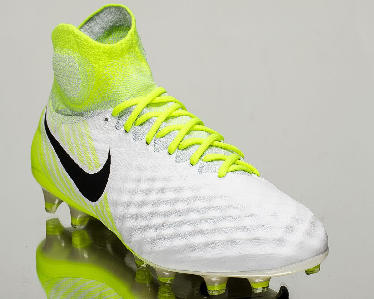 Nike Magista Obra II FG 2 men soccer cleats football NEW white volt 844595-109 Wild casual shoes