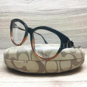 6adced84cf85 Coach HC 6093 Eyeglasses Black Amber Glitter Gradient 5490 Authentic ...