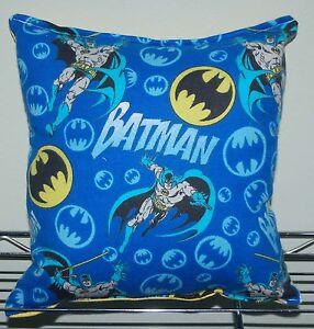 Batman-Pillow-DC-Comic-Pillow-Classic-Bat-Man-Pillow-HANDMADE-In-USA-Hero