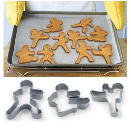 Bread Men Cookie Cutters Gingerbread Man Karate Novelty Gift HY