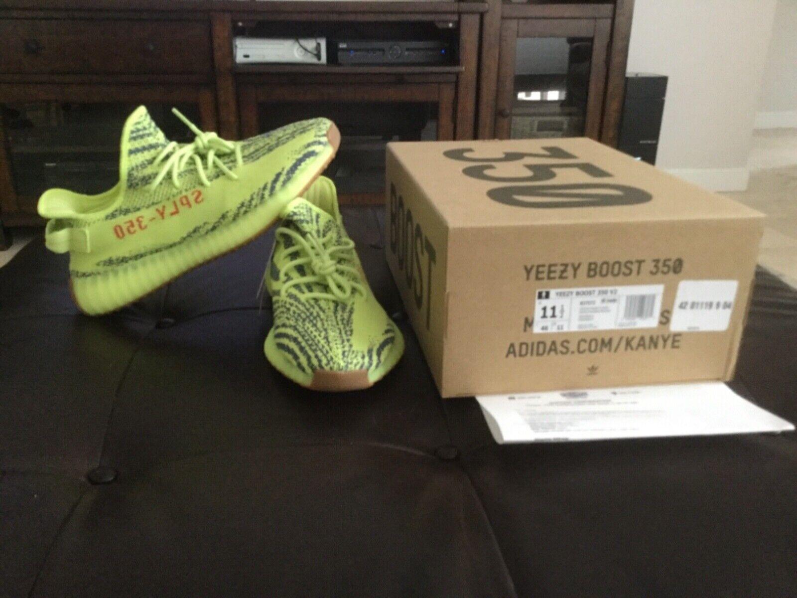 Adidas Yeezy Boost 350 V2 Frozen Yellow Semi Frozen,size11.5,Authentic w Receipt