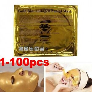 100-Gold-Crystal-Collagen-Facial-Face-Mask-Hydrating-Anti-Aging-Repair-Skin-Care