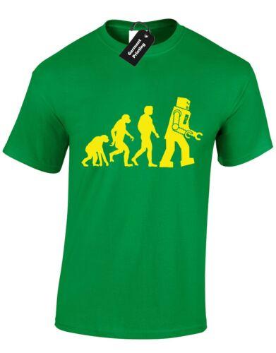 EVOLUTION OF ROBOT MENS T SHIRT SHELDON FLASH BIG BANG GREEN LANTERN FUNNY