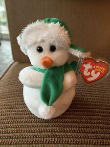 "Ty Beanie Babies Mr. Snow 6"" 2009 Mint With Mint Tag"