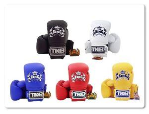 NWT-Top-King-Muay-Thai-Boxing-Gloves-TKBGSV-Black-White-Yellow-Red-Blue-10-16